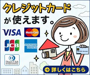 クレジットカードカードが使えます。